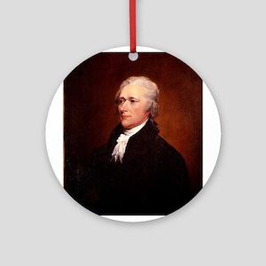 Alexander Hamilton Ornament (Round)