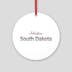 Custom South Dakota Ornament (Round)