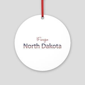 Custom North Dakota Ornament (Round)