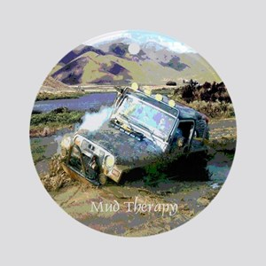 Jeep & Mud Therapy Ornament (Round)