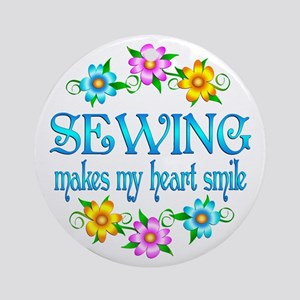 Sewing Smiles Ornament (Round)