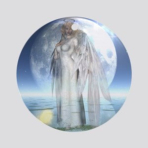 Moon Angel Keepsake (Round)