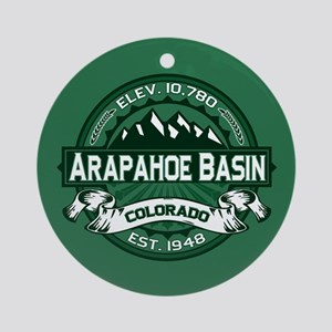 Arapahoe Basin Forest Ornament (Round)