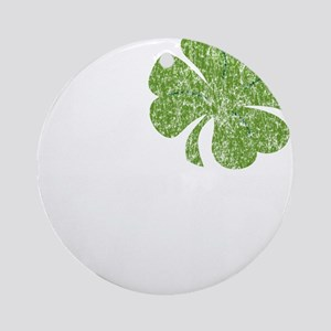 love_shamrock_white Round Ornament