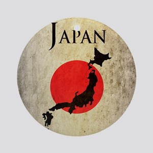 Map Of Japan Round Ornament