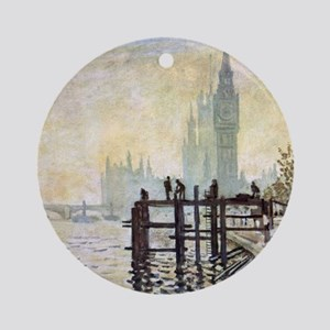 Claude Monet Westminster Bridge Round Ornament