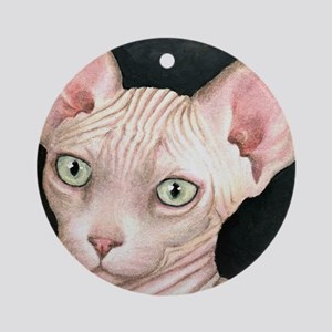 Cat 412 sphynx Round Ornament