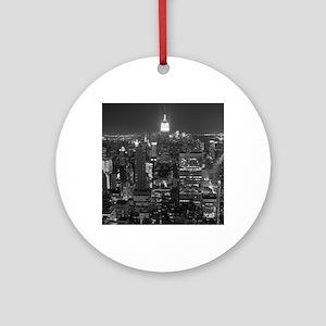 New York City at Night. Round Ornament