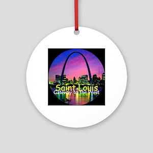 St Louis Round Ornament