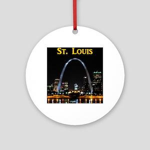 St Louis Gateway Arch Round Ornament