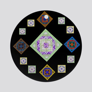 1881 quilting bee Ornament (Round)