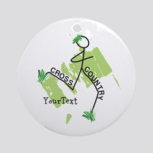 Customize Cute Cross Country Round Ornament