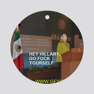 GFY Hillary Clinton Round Ornament