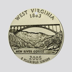 West Virginia Quarter 2005 Basic Round Ornament