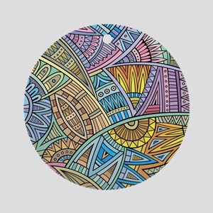 Colorful Abstract Round Ornament