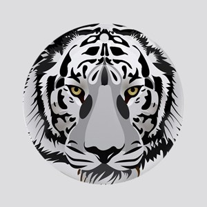 White Tiger Face Ornament (Round)