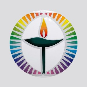 UU Rainbow Logo Ornament (Round)