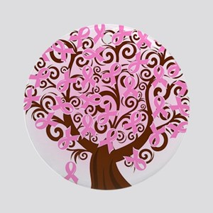 The Tree of Life...Breast Cancer Ornament (Round)