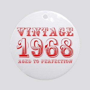 VINTAGE 1968 aged to perfection-red 400 Ornament (