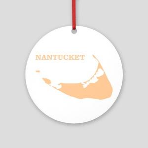 Nantucket Island Sand Round Ornament