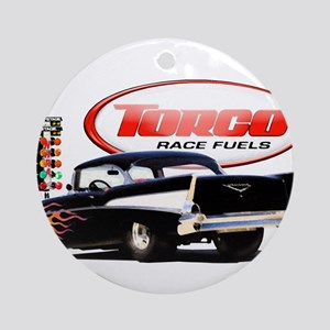 57 Chevy Dragster Ornament (Round)