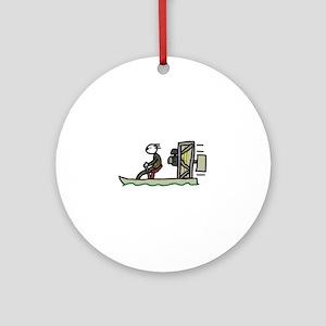Swamp Boat Round Ornament
