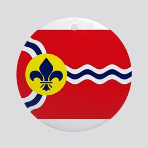 St. Louis Flag Ornament (Round)