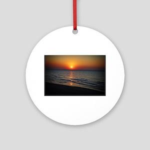 Bat Yam Beach Round Ornament
