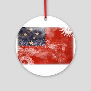 Samoa Flag Ornament (Round)