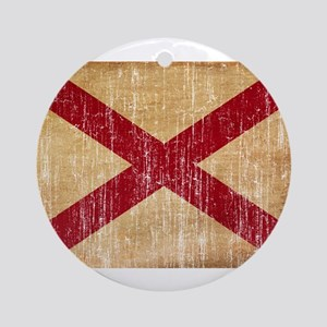 Alabama Flag Ornament (Round)
