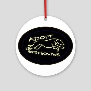 More Greyhound Logos Ornament (Round)