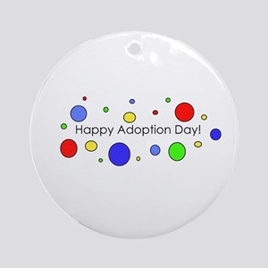 Happy Adoption Day Round Ornament