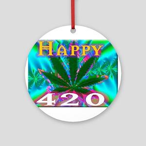happy 420 Ornament (Round)