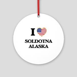 I love Soldotna Alaska Ornament (Round)