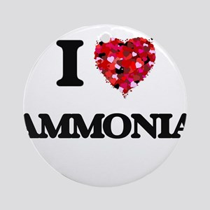 I Love Ammonia Ornament (Round)