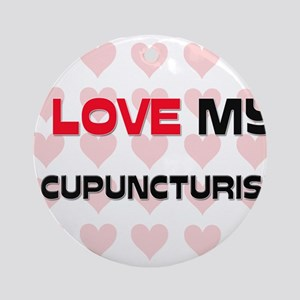 I Love My Acupuncturist Ornament (Round)