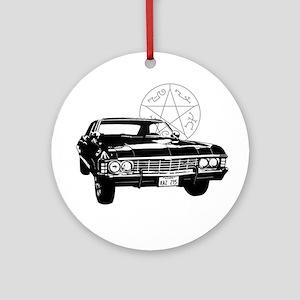Impala with devils trap Ornament (Round)