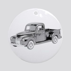Ford Pickup 1940 -colored Ornament (Round)