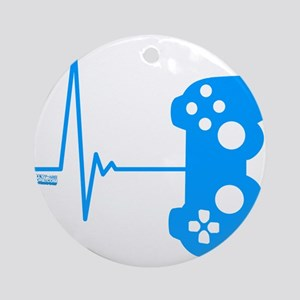 Gamer Heart Beat Ornament (Round)
