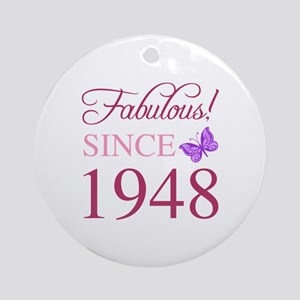 1948 Fabulous Birthday Round Ornament