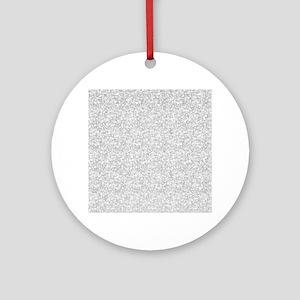 Silver Gray Glitter Sparkles Ornament (Round)
