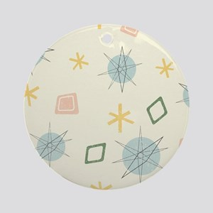 Atomic Age Art Round Ornament