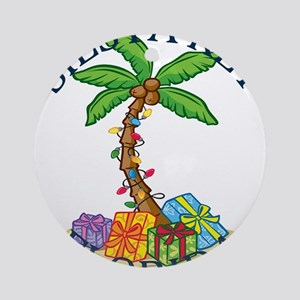 Summer siesta key- florida Round Ornament