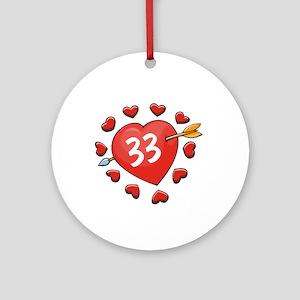 33rd Valentine Ornament (Round)