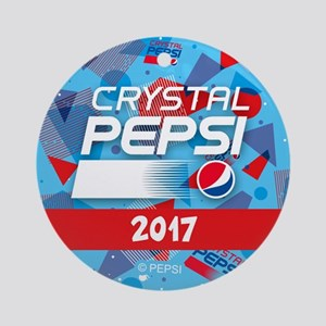 Crystal Pepsi Round Ornament