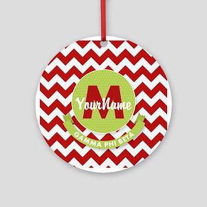 Gamma Phi Beta Monogram Round Ornament