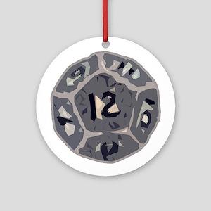 12 Sided Die Ornament (Round)