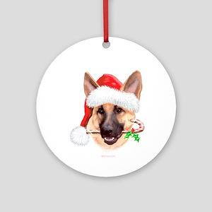 Tan G Shepherd Christmas Ornament (Round)