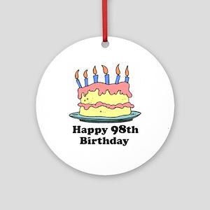 Happy 98th Birthday Ornament (Round)