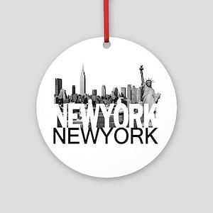 New York Skyline Ornament (Round)
